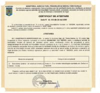 Certificat atestare ANIF