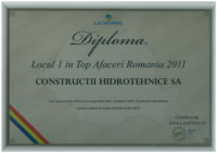 diploma Loc I Top afaceri 2011