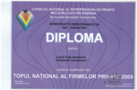 diploma Loc II Top National constructii hidro2009