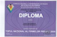 diploma Loc II Top National constructii hidro2009
