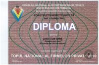 diploma Loc III Top afaceri 2010
